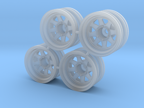 "Rim Wagon Wheel 1/4"" offset - Losi McRC/Trekker in Smooth Fine Detail Plastic"