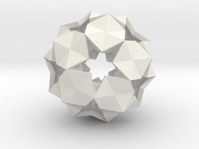 20 Hexagons Ball - 2.8 cm in White Natural Versatile Plastic