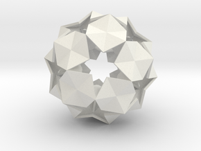 20 Hexagons Ball - 5.6 cm in White Strong & Flexible