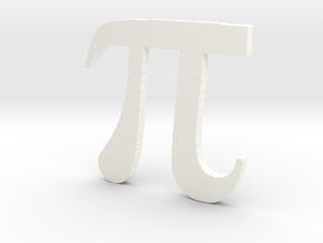 3D Printed Pi in White Strong & Flexible Polished