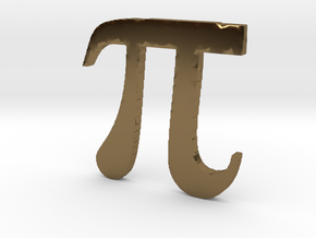 3D Printed Pi in Polished Bronze