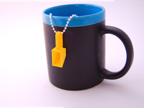 Pendant Teaspoon 1/4 tsp in Yellow Processed Versatile Plastic
