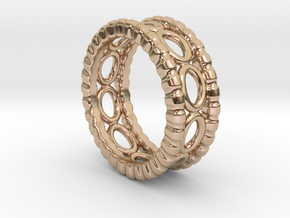Ring Ring 29 - Italian Size 29 in 14k Rose Gold Plated Brass