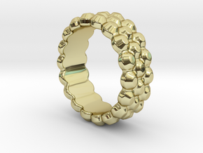 Chocolat Ring 17 - Italian Size 17 in 18k Gold Plated Brass