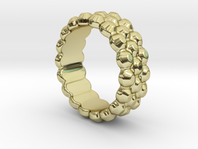 Chocolat Ring 29 - Italian Size 29 in 18k Gold Plated Brass