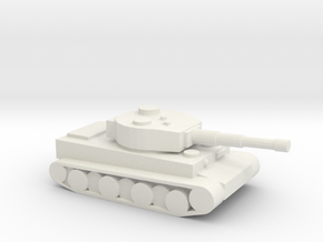 Tiger tank in White Natural Versatile Plastic