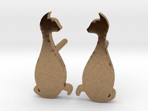 Cat Studs (Ver. 3) in Natural Brass