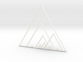 Triangles in White Processed Versatile Plastic