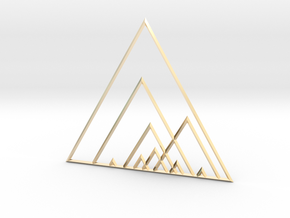 Triangles in 14K Yellow Gold