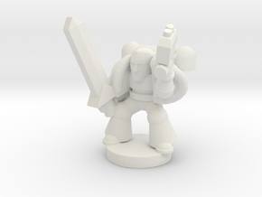 Spacemarine Captain in White Natural Versatile Plastic