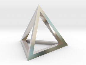 pyramid in Rhodium Plated Brass