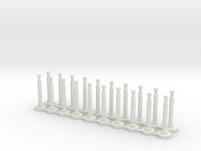 """48"""" Delineator """"Grabber"""" Cones 20 Pack in White Strong & Flexible"""