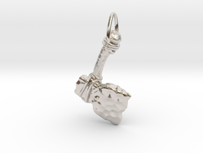 The Battle Axe in Rhodium Plated Brass