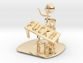 Meme flip a table in 14k Gold Plated Brass