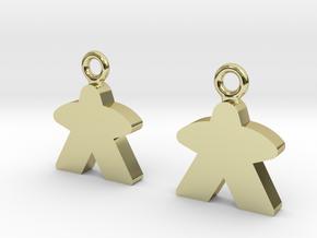 Meeple Earrings in 18k Gold Plated Brass