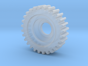 Gear Heart Pendant - Small Gear in Smooth Fine Detail Plastic