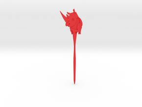 Rhinoceros Hair Pin in Red Processed Versatile Plastic