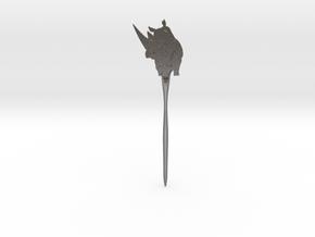 Rhinoceros Hair Pin in Polished Nickel Steel