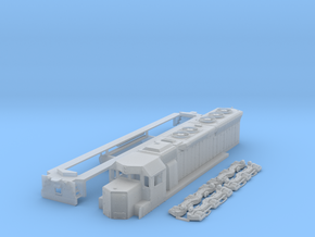 SD45 1:120 Scale in Smooth Fine Detail Plastic