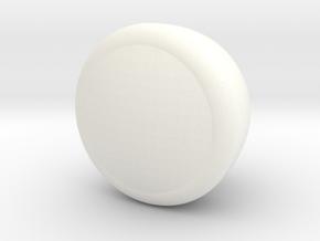 Fj Head Light Switch Knob in White Processed Versatile Plastic