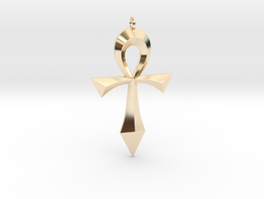 Toschlog Special Swept Ankh in 14K Yellow Gold