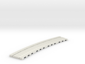 P-165stw-long-curved-r2-tram-track-100-w-2a in White Natural Versatile Plastic