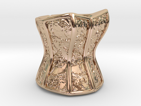 Victorian Damask Corset, c. 1860-68 in 14k Rose Gold Plated Brass