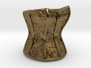 Victorian Damask Corset, c. 1860-68 in Polished Bronze