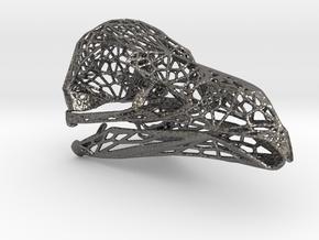 Griffon Vulture Skull in Polished Nickel Steel