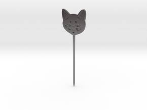 Cat Hair Pin in Polished Nickel Steel
