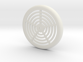 New Bathroom Vent in White Natural Versatile Plastic