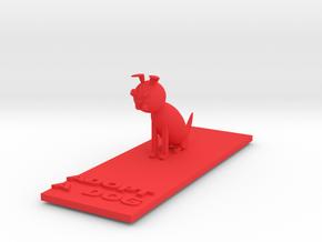 Dog Statue in Red Processed Versatile Plastic