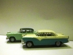 55 Ford Wheel 2 Sets in Smoothest Fine Detail Plastic