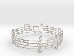 Bracelet Song in Rhodium Plated Brass