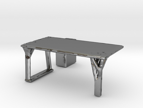Flexible Table  in Fine Detail Polished Silver