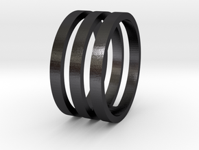 Amon - Size 10 in Polished and Bronzed Black Steel