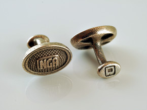 NGA Cufflinks in Stainless Steel