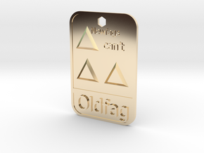 Newfags can't triforce in 14K Yellow Gold