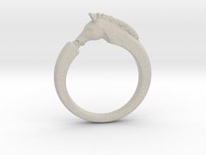 Horse Ring in Natural Sandstone