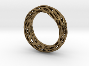 Trous Ring S9 in Polished Bronze