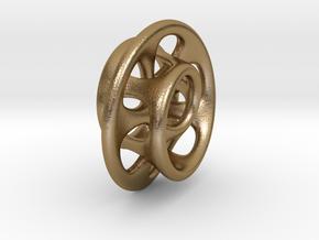 ToroideAgujeros1 in Polished Gold Steel