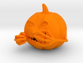 Pumpkin Eating in Orange Strong & Flexible Polished