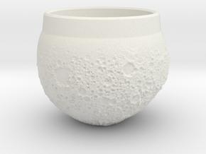 """Moon Shot"" Espresso Cup in White Natural Versatile Plastic"