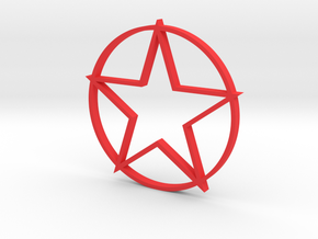 Red Star in Red Processed Versatile Plastic