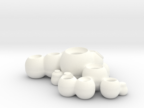 UsefulPots1 in White Strong & Flexible Polished