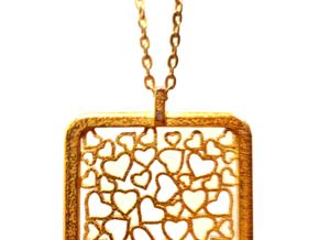 Light-Hearted Pendant in Matte Gold Steel