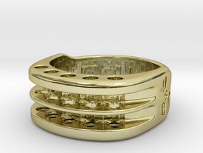 US9 Ring XI: Tritium in 18k Gold