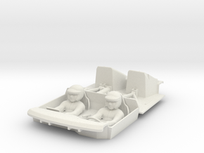 S05-SA1 Cockpit for Scalextric Lancia Delta S4 in White Natural Versatile Plastic