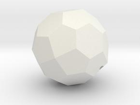 TC4b Hohl 3 in White Natural Versatile Plastic