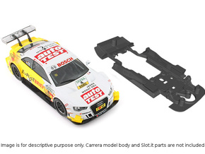S01-ST2 Chassis for Carrera Audi A5 DTM STD/STD in Black Natural Versatile Plastic